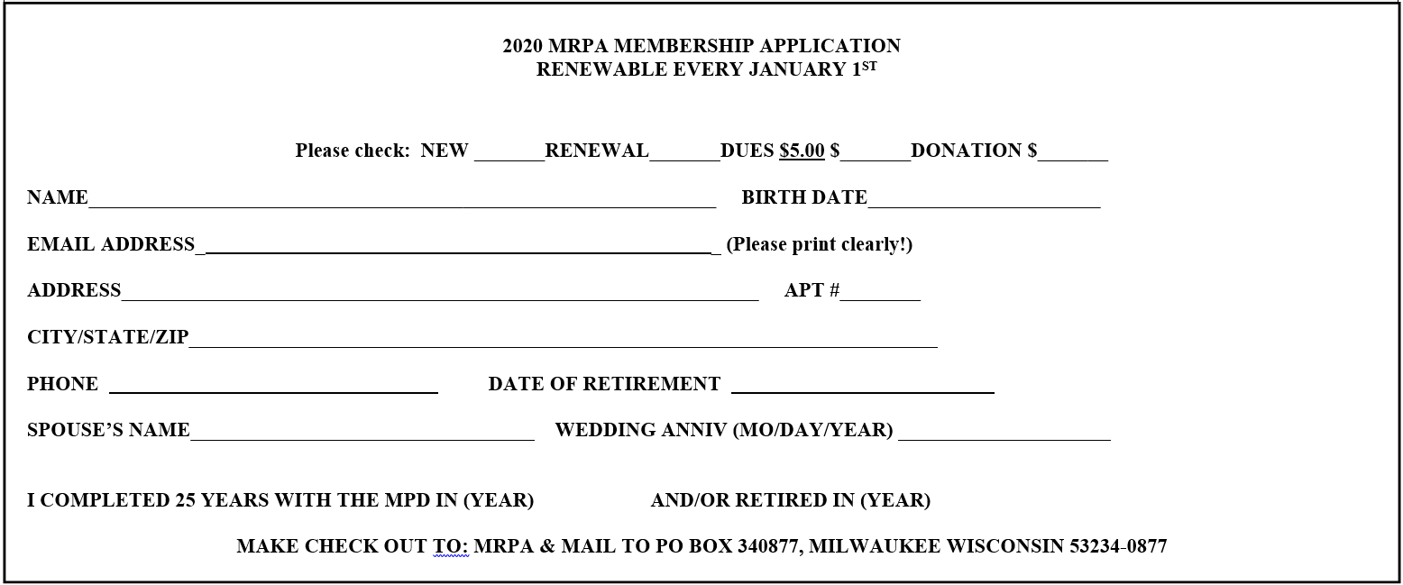 MRPA 2020 Application
